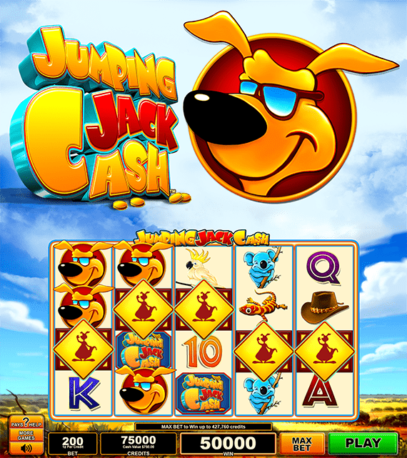 Jumping Jack Cash Electronic Pull Tab