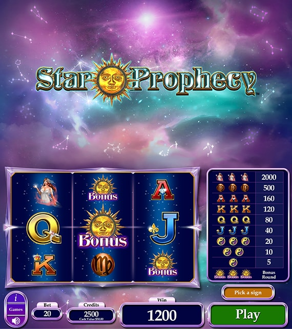 Star Prophecy Electronic Pull Tab