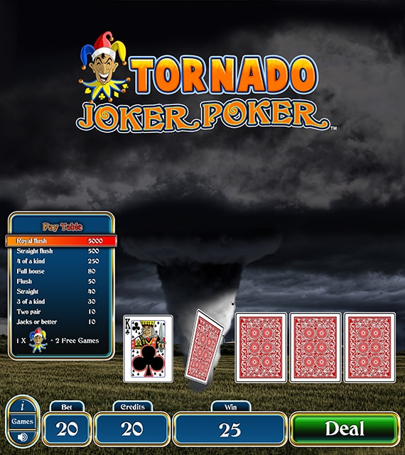Tornado Joker Poker Electronic Pull Tab
