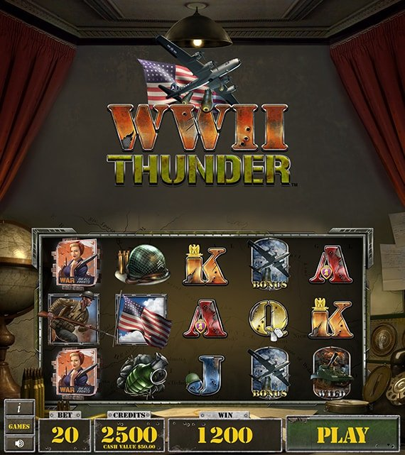 WWII Thunder Electronic Pull Tab