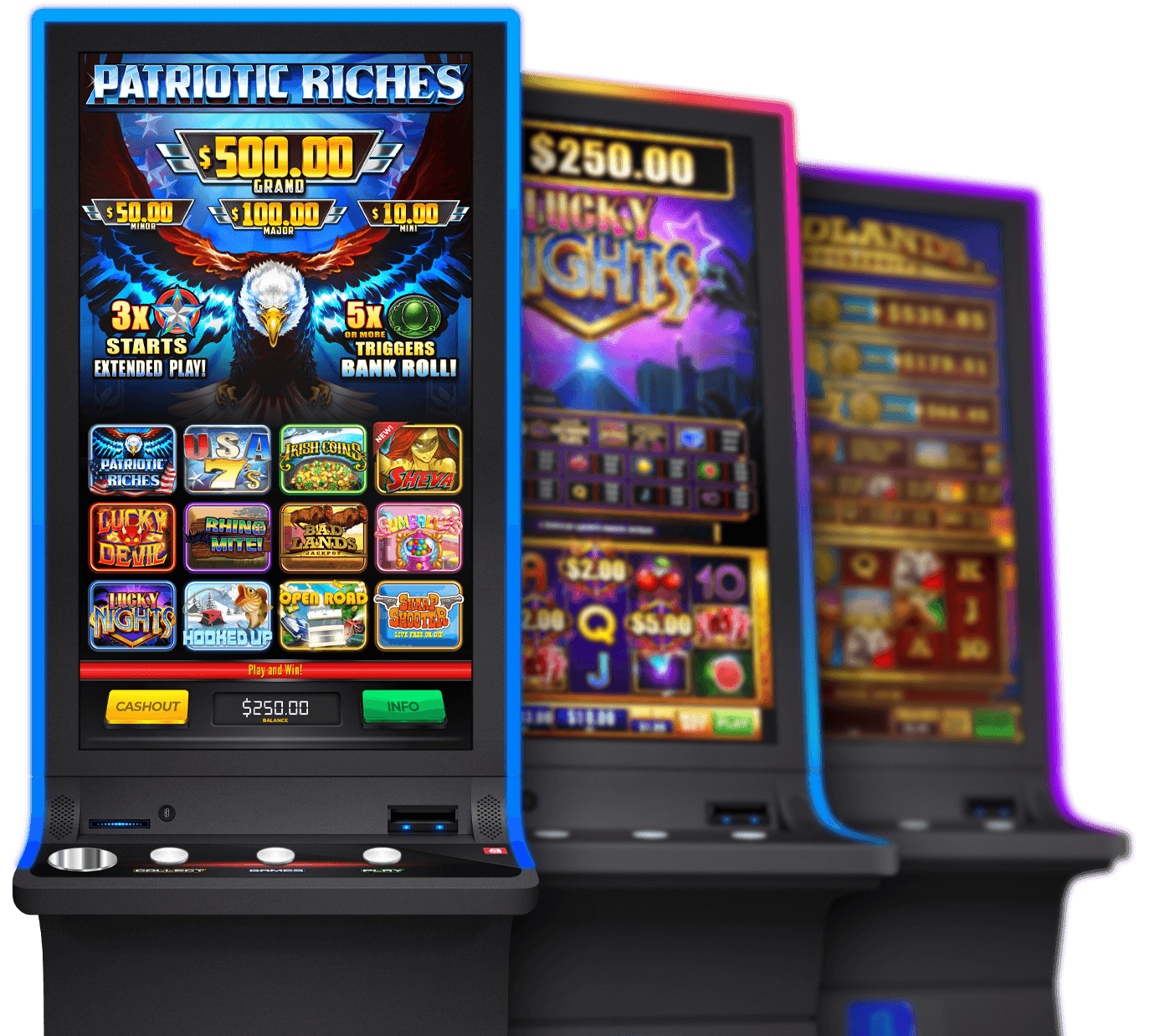 Electronic Pull Tab Cabinets