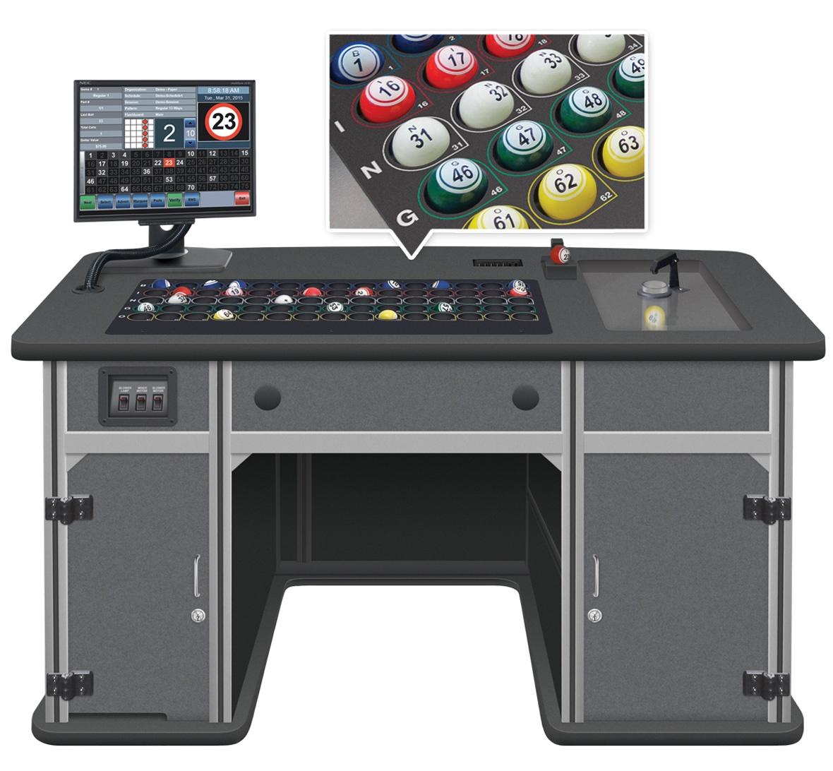 Statesman Premier Bingo Console with Color Code Ball Tray