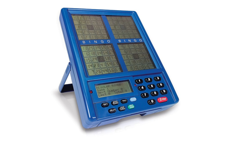 Blue Dog Classic Blue Handheld Bingo Unit