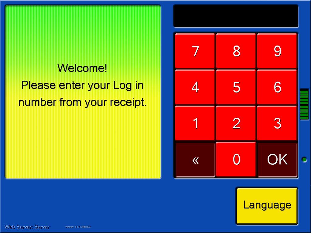 Player Login Screen