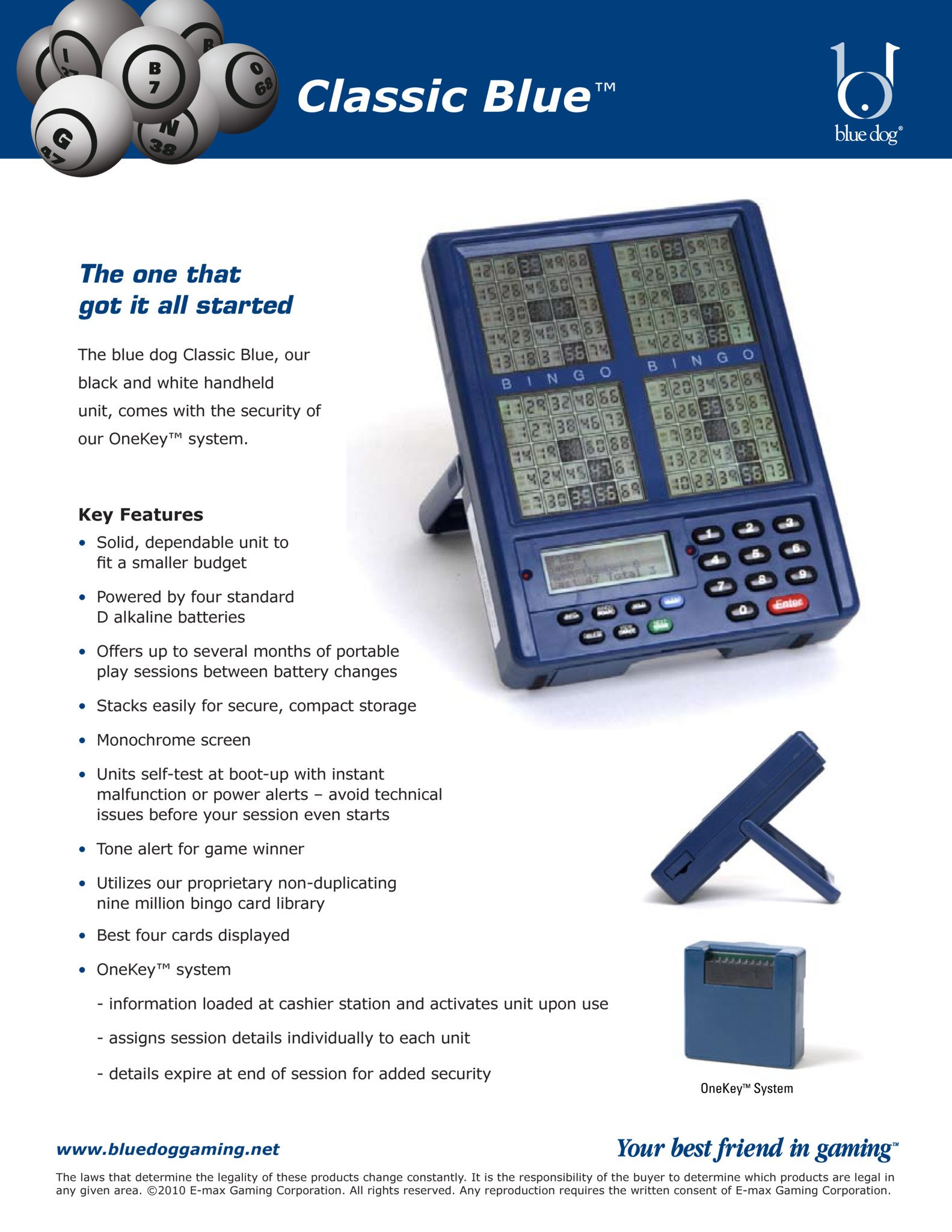 Classic Blue Brochure Promotional Materials/Equipment Flyers & Brochures
