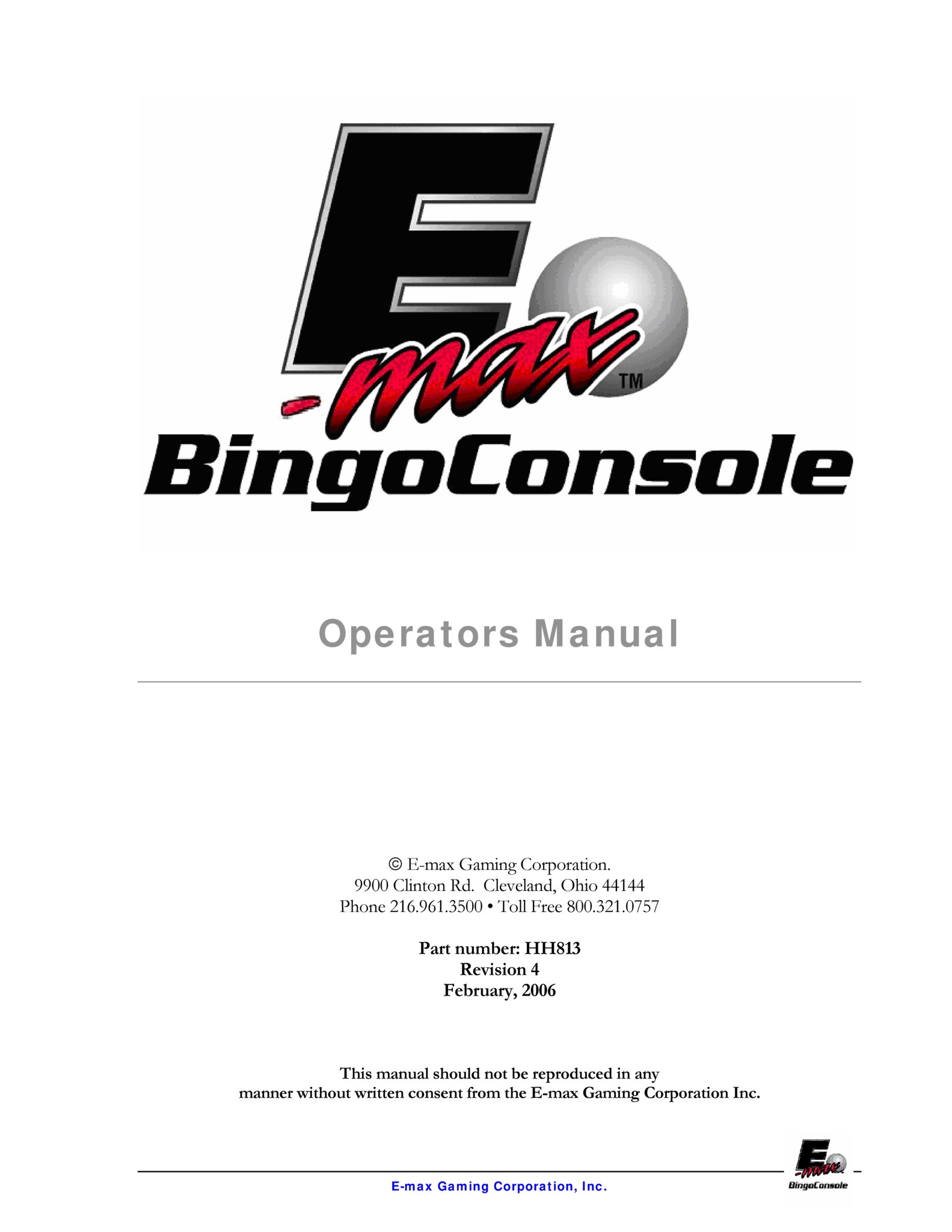 E-max Operators Manual Equipment Manuals