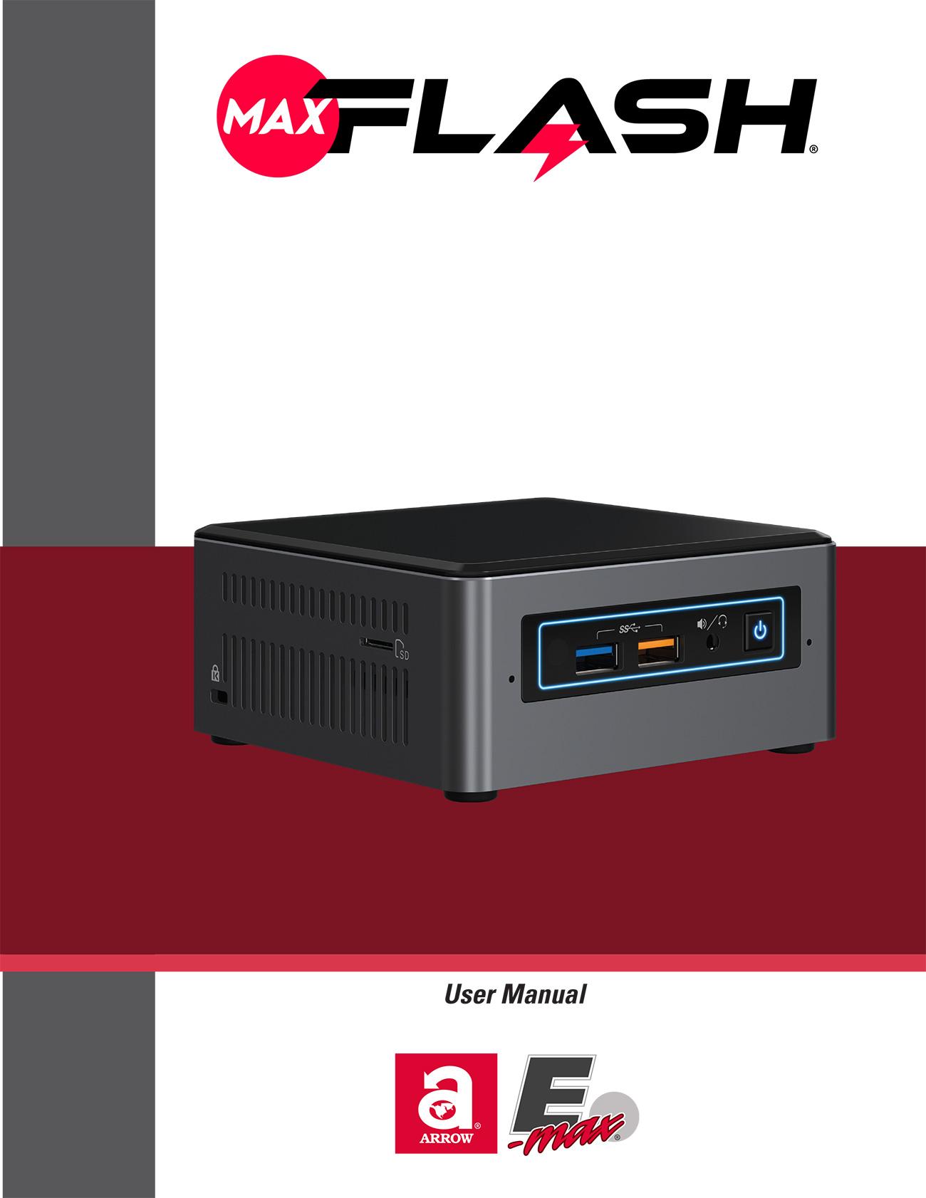 MaxFlash User Manual Promotional Materials/Equipment Flyers & Brochures