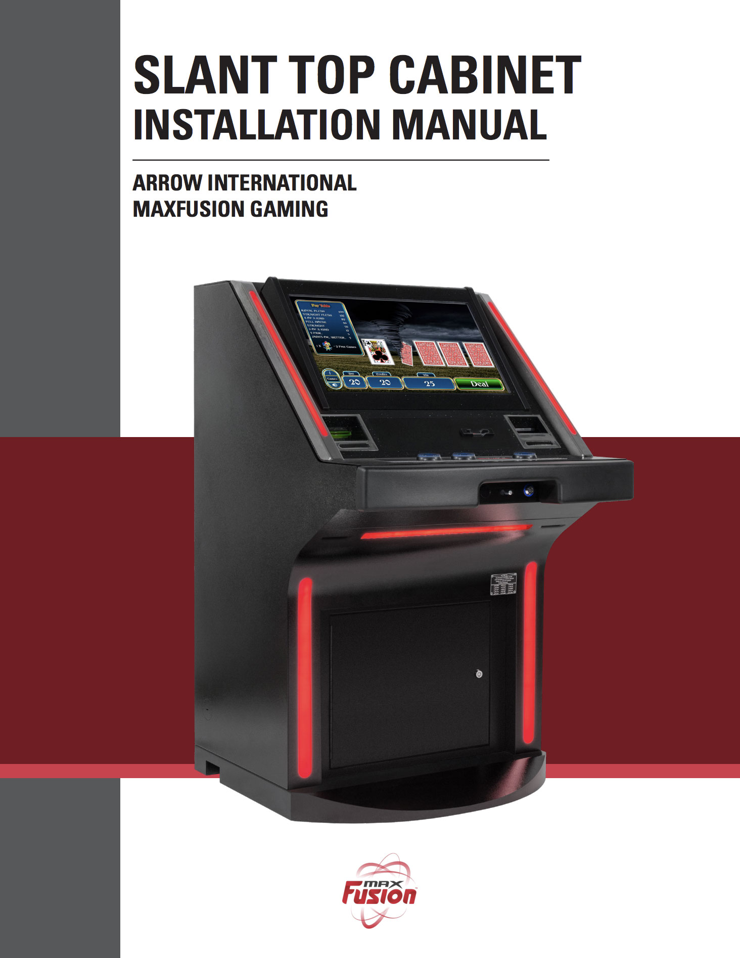 MaxFusion Slat Top Manual Equipment Manuals