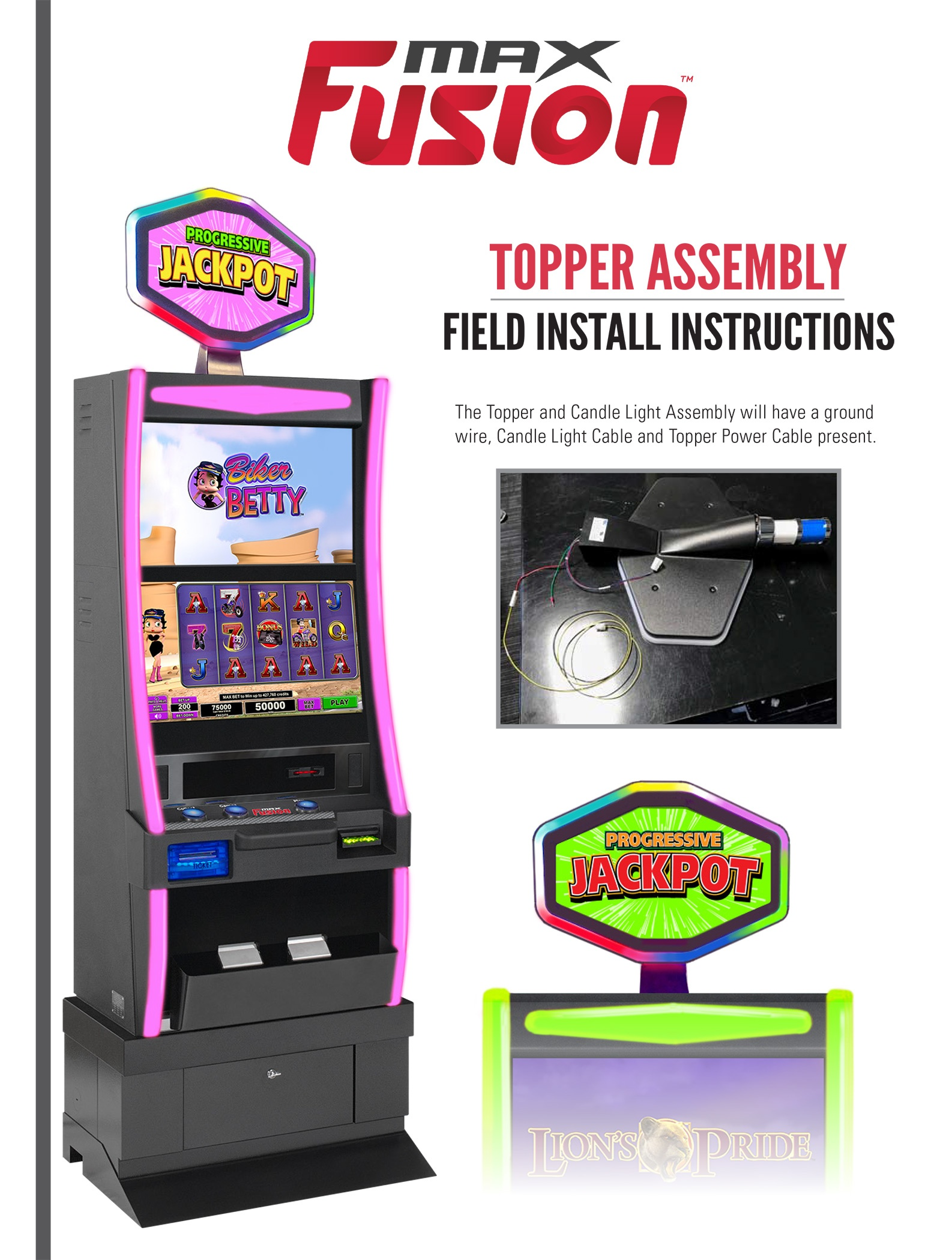 MaxFusion Topper Assembly Promotional Materials/Equipment Flyers & Brochures