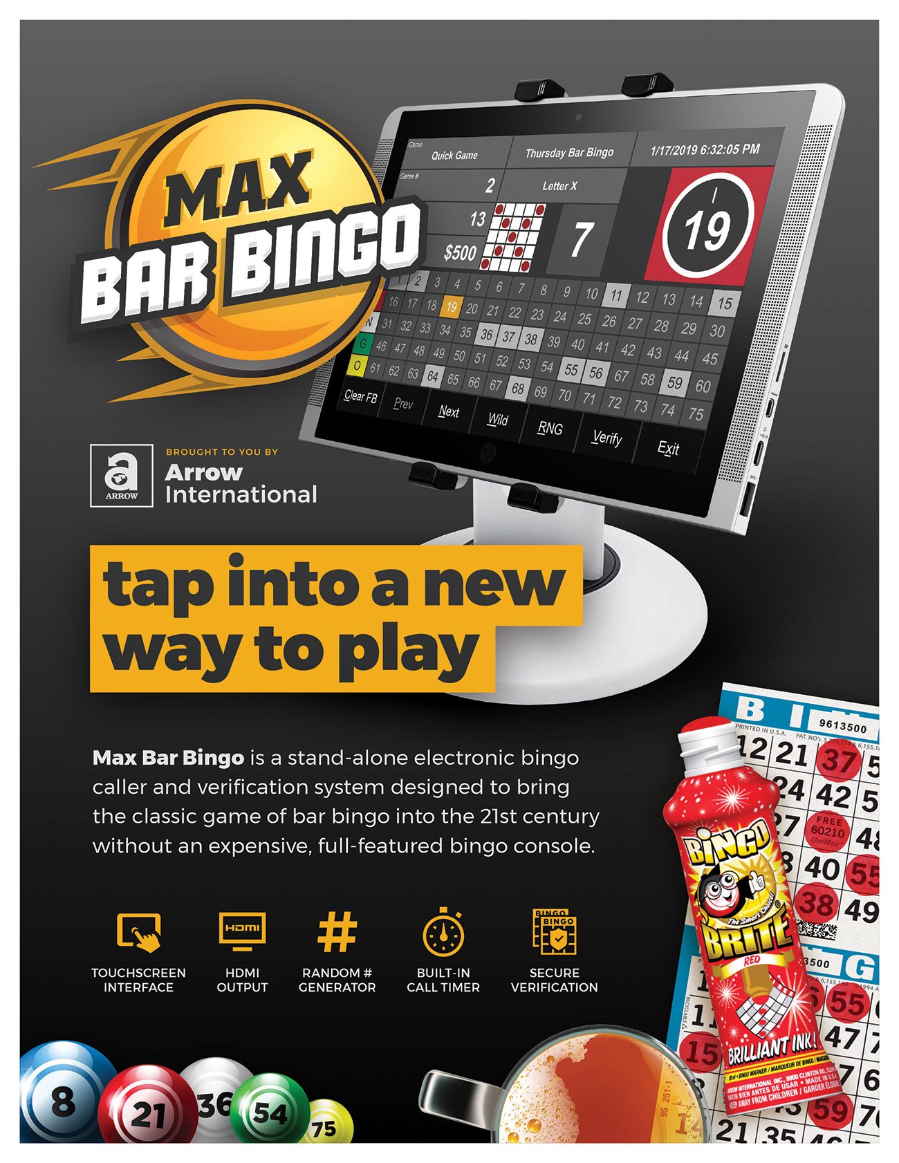 Max Bar Bingo Promotional Materials/Equipment Flyers & Brochures